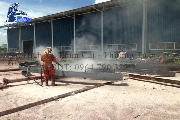 Dịch vụ phun cát tại Vĩnh Phúc